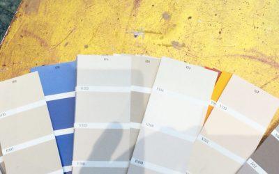 Pintar con colores alegres